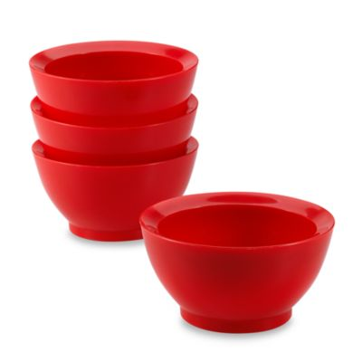 CaliBowl® La Jolla Single Serving Bowls in Red (Set of 4)