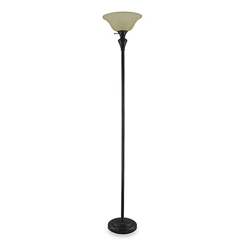 Torchiere Floor Lamp in Bronze with CFL Bulb
