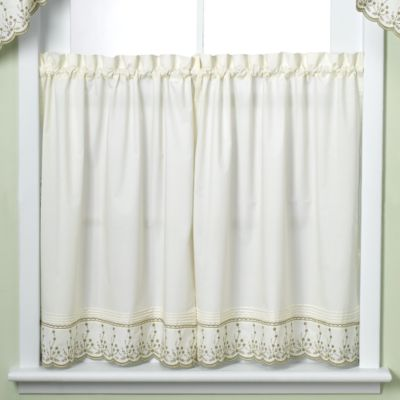 Abby Sage Kitchen 24-Inch Window Curtain Tier Pair