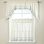 Abby Kitchen Window Curtain Tiers - Wedgwood