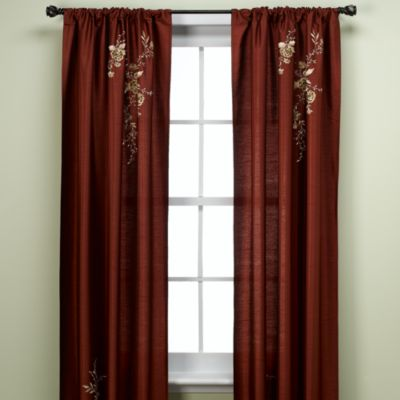 Alesandra 95-Inch Tailored Window Curtain Panel in Cinnabar
