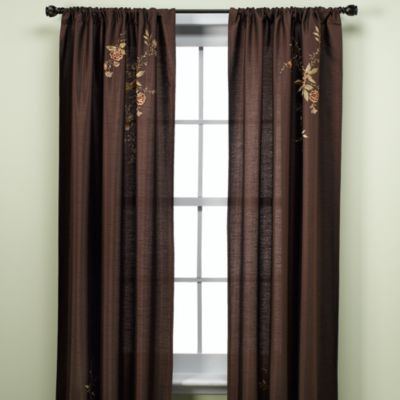 Alesandra 63-Inch Tailored Window Panel in Cinnabar
