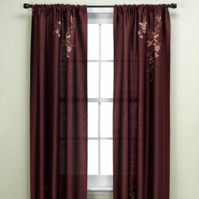 Alesandra 95-Inch Tailored Window Curtain Panel in Eggplant