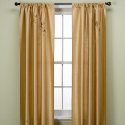 Alesandra 95-Inch Tailored Window Curtain Panel in Gold