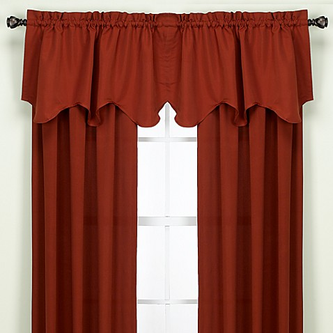 Peach Skin Sawtooth Valance in Crimson