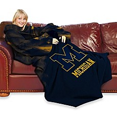 Collegiate University of Michigan Comfy Throw™ with Sleeves