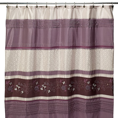 Silhouette Purple Fabric Shower Curtain Bed Bath Beyond