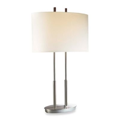 Brushed Nickel Two Light Accent Lamp