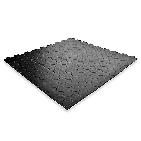 Versatile Proseal Pvc Floor Tiles In Black In 24 Tiles