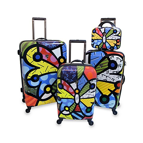 Britto™ Collection by Heys® Butterfly 4-Piece Hardside Luggage Set