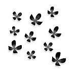 Umbra® Wall Flowers in Black (Set of 2)