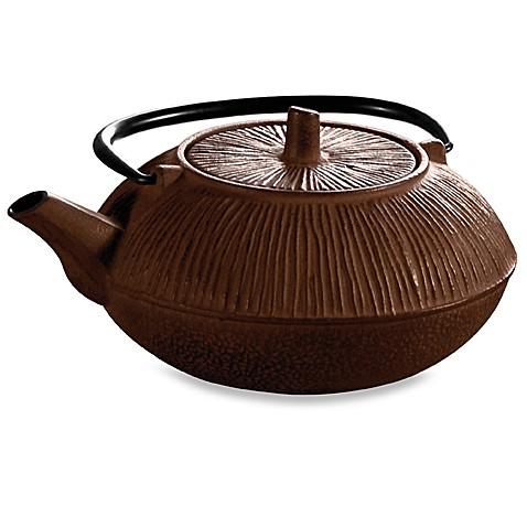 Primula Tea® Cast Iron 28-Ounce Teapot in Brown