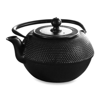 Primula Tea® Cast Iron 40-Ounce Black Matted Teapot