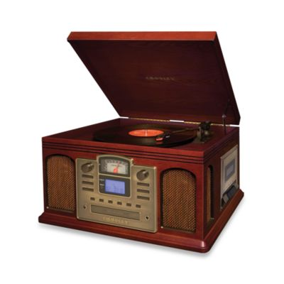Crosley Turntable, CD and Cassette Unit CR2405A in Cherry