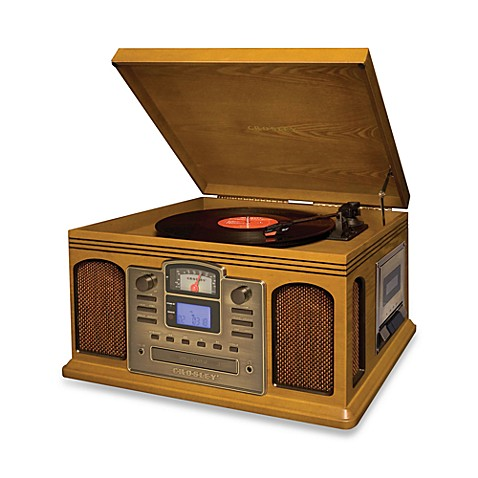 Crosley Turntable, CD and Cassette Unit CR2405A - Oak