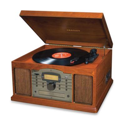 Crosley Troubadour Turntable, CD and Cassette USB & SD Transfer Unit CR7002A - Paprika