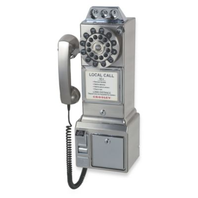 Crosley CR 56 1950's Pay Phone - Brushed Chrome