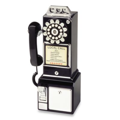 Crosley CR56 1950's Pay Phone - Black
