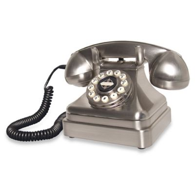 Crosley CR62 Kettle Classic Desk Phone in Brushed Chrome