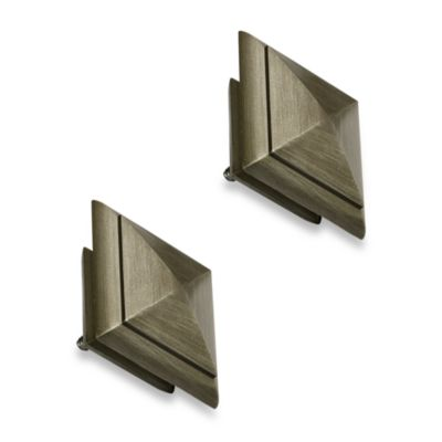 Cambria® Outdoor Living® Fresco Decorative Finial Pair in Brushed Nickel