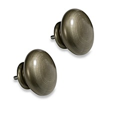 Cambria® Outdoor Living® Breeze Decorative Finial Pair in Brushed Nickel