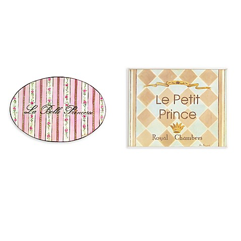 Le Belle Princess and Le Petite Prince  Wall Plaques