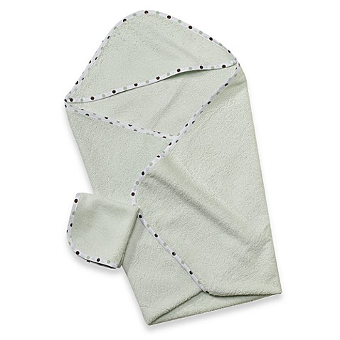 TL Care® Organic Terry Hooded Towel Set in Celery