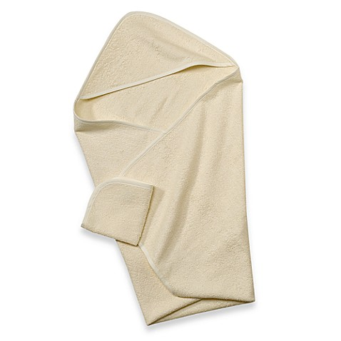TL Care® Organic Terry Hooded Towel Set in Ecru