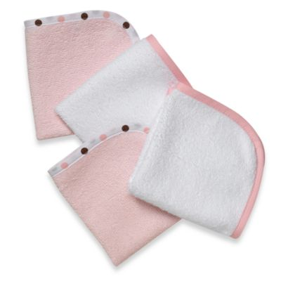 TL Care® Organic Washcloth (Set of 4) in Pink