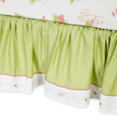 Green Pink Bed Skirt