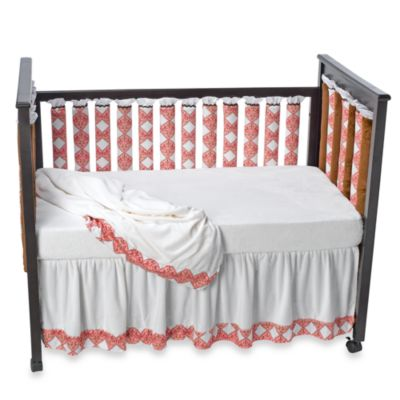 Go Mama Go Designs Pink Damask Wonder Bumpers Baby Crib Bedding