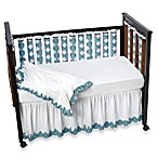 Go Mama Go Designs Blue Damask Wonder Bumpers Baby Crib Bedding