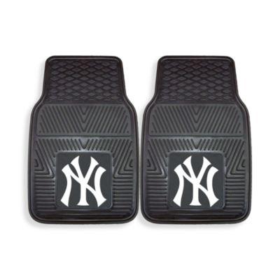 MLB New York Yankees Vinyl Car Mats (Set of 2)
