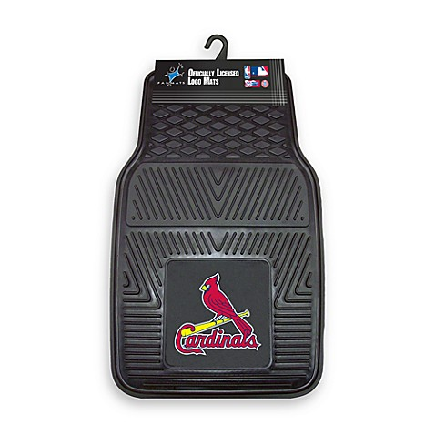 MLB St. Louis Cardinals Vinyl Car Mats (Set of 2)