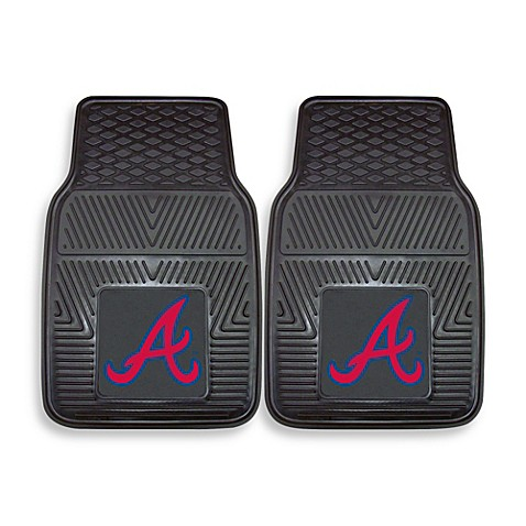 MLB Atlanta Braves Vinyl Car Mats (Set of 2)