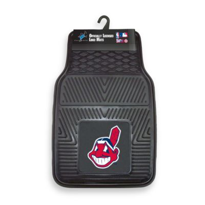 MLB Cleveland Indians Vinyl Car Mats (Set of 2)