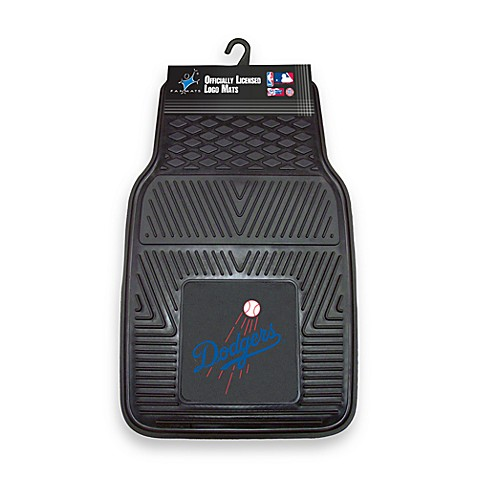 MLB Los Angeles Dodgers Vinyl Car Mats (Set of 2)