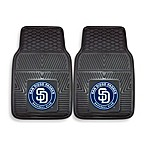 MLB San Diego Padres Vinyl Car Mats (Set of 2)