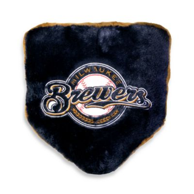 MLB Milwaukee Brewers Home Plate Pillow