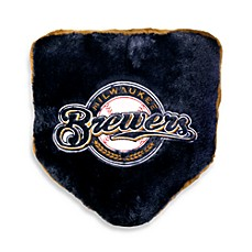 MLB Milwaukee Brewers Home Plate Throw Pillow
