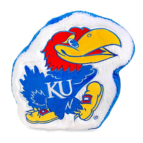 University of Kansas Plush Throw Pillow