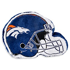 NFL Denver Broncos Helmet Throw Pillow