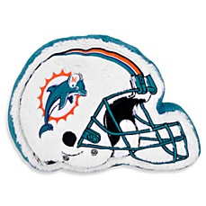 NFL Miami Dolphins Helmet Throw Pillow