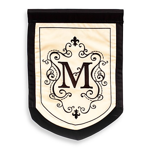 Buy Fleur Monogrammed Letter Quot M Quot Outdoor Flag From Bed