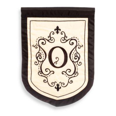 """Monogrammed Letter """"O"""" Fleur Outdoor Flag"""