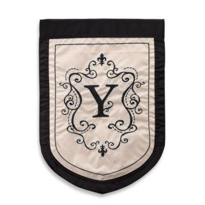 """Monogrammed Letter """"Y"""" Fleur Outdoor Flag"""