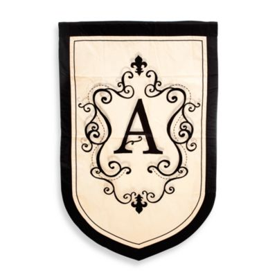 "Monogrammed Letter ""A"" Fleur Estate Outdoor Flag"