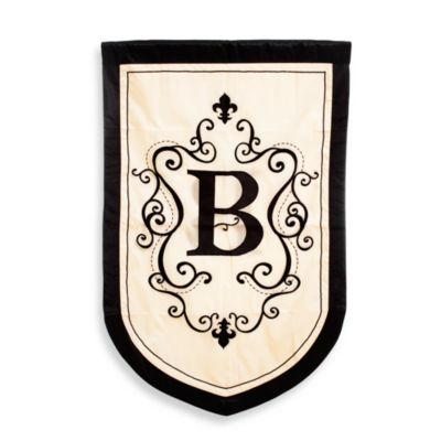"Monogrammed Letter ""B"" Fleur Estate Outdoor Flag"