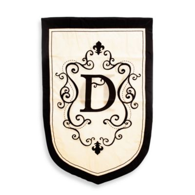 "Monogrammed Letter ""D"" Fleur Estate Outdoor Flag"