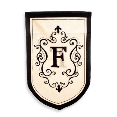 "Monogrammed Letter ""F"" Fleur Estate Outdoor Flag"